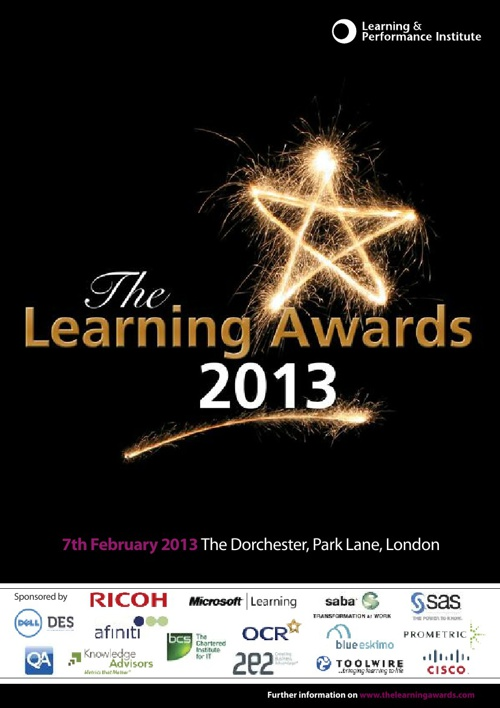 The Learning Awards 2013 Book of the Night
