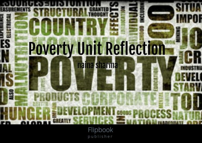 Poverty Unit Reflection