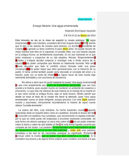 ensayo literario alejandro dominguez 2b