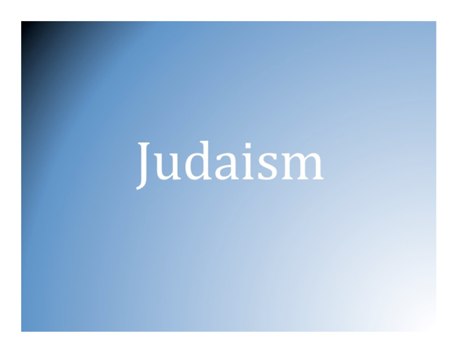 Judaism Part 1