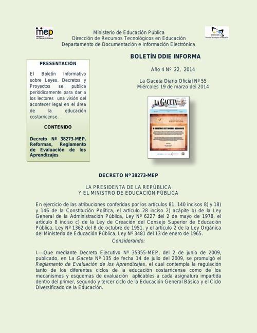 REGLAMENTO DE EVALUACIÓN CAMBIOS