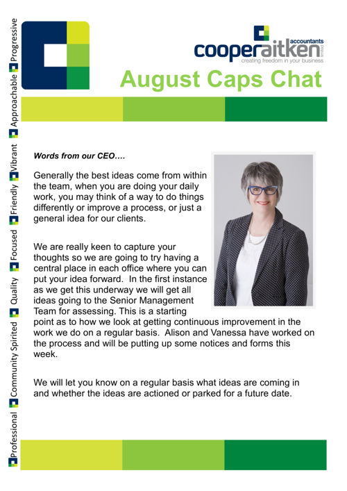 AUGUST CAPS CHATS