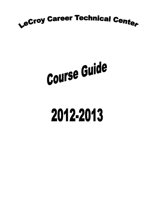 LCTC Course Guide 2012-2013