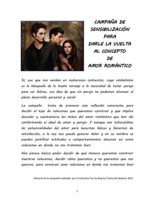 """""""NO"""" al amor romantico"""