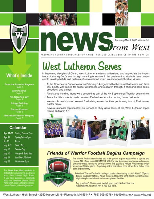 News from West February March 2013