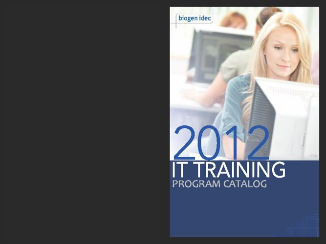 IT Training Program Catalog 2012