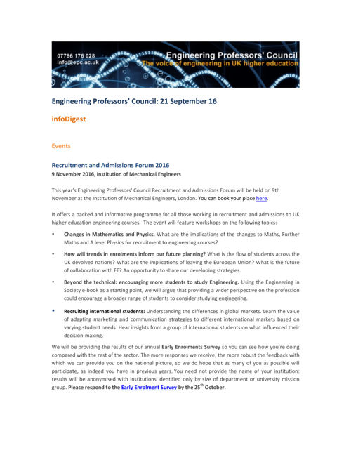 Engineering Professors' Council infoDigest 21 Sep 16