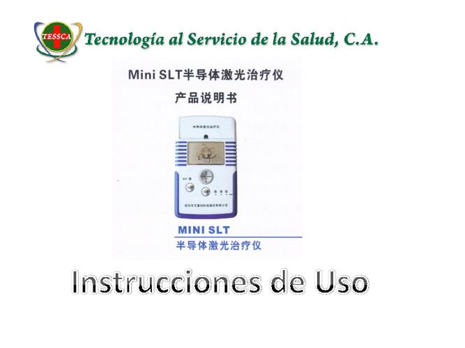 Instrucciones de uso Laser