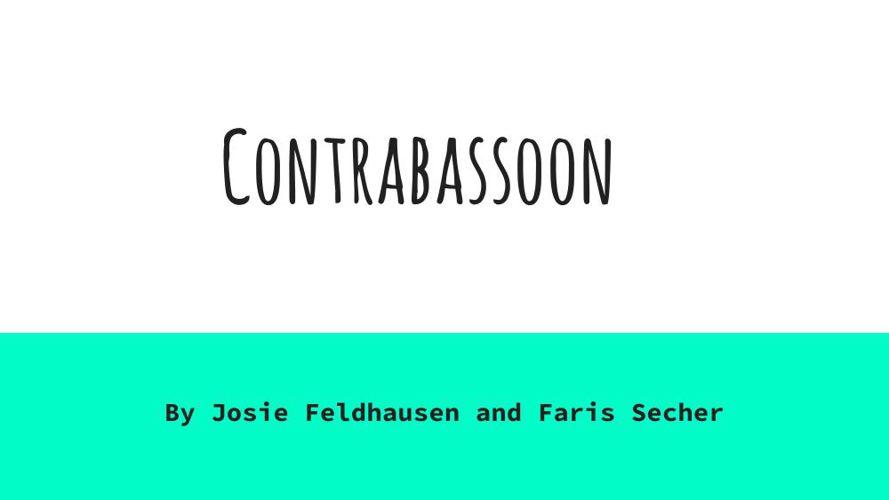 Contrabassoon