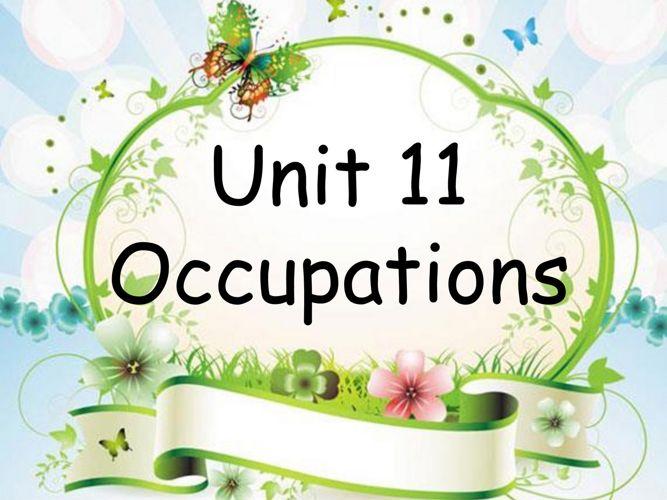 Unit 11 occupations 1