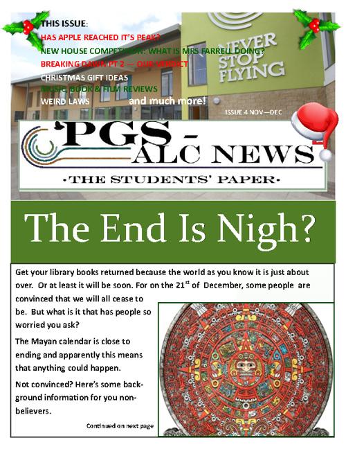 School Newspaper - Issue 4