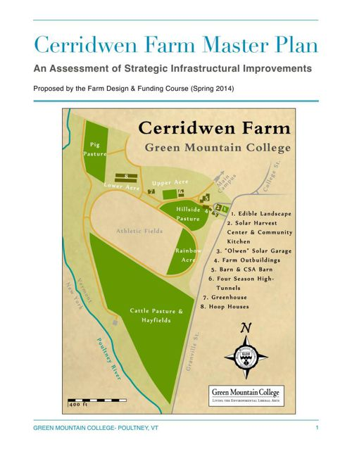 Cerridwen Farm Master Plan: Green Mountain College