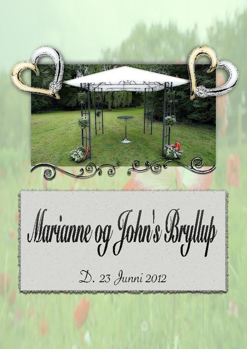 Marianne og John's Bryllup