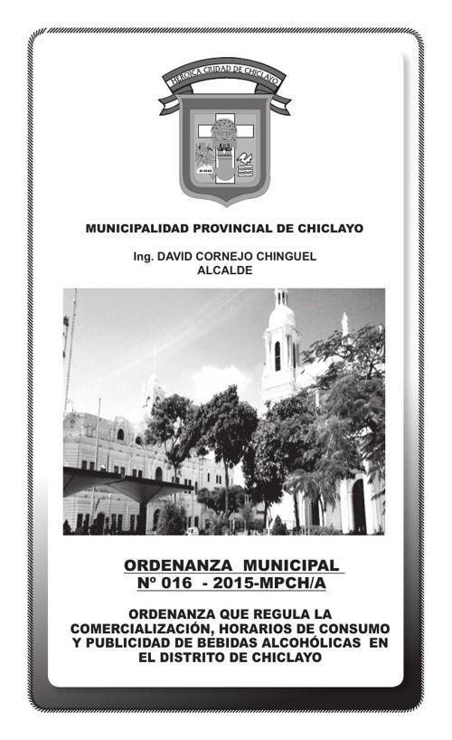 ORDENANZA MUNICIPAL N° 016-2015-MPCH/A