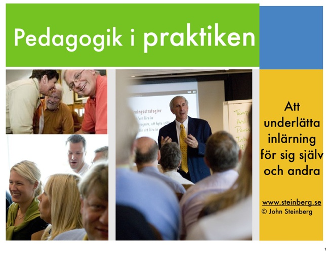 Pedagogik i praktiken (kort version) Föreläsningsbildspel