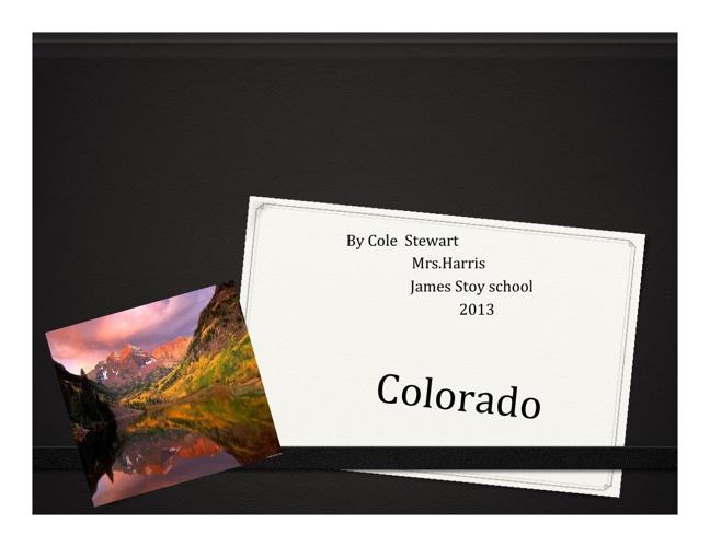 Colorado by Cole