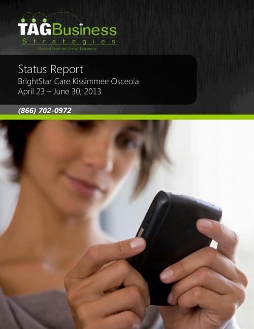 BSC Kissimmee - Gitto - Status Report 20130423-20130630