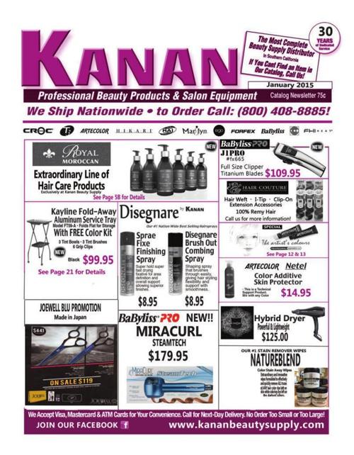 Kanan Beauty Supply January 2015 Catalog