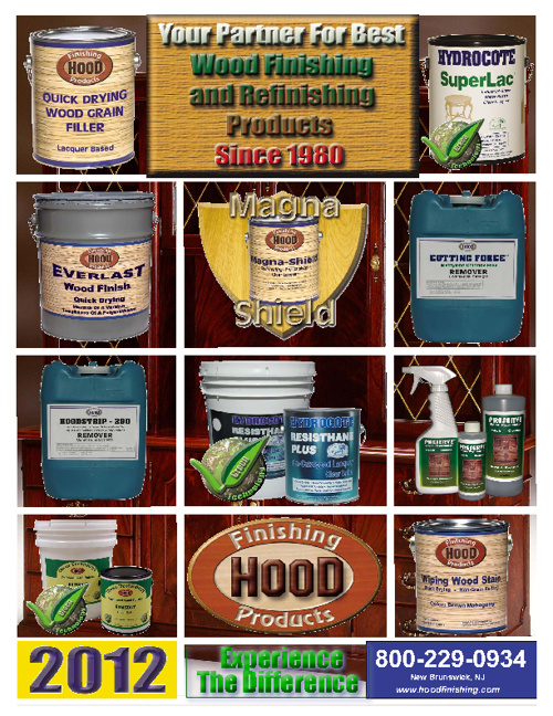2012 HOOD FINISHING PRODUCTS CATALOG