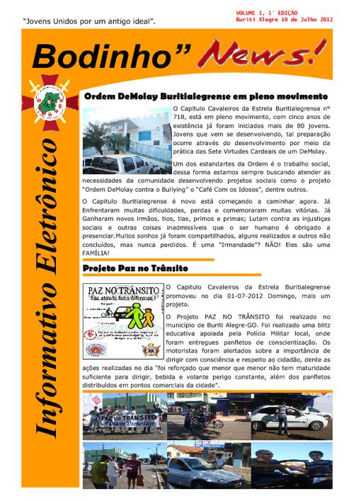 INFORMATIVO ELETRÔNICO BODINHO NEWS