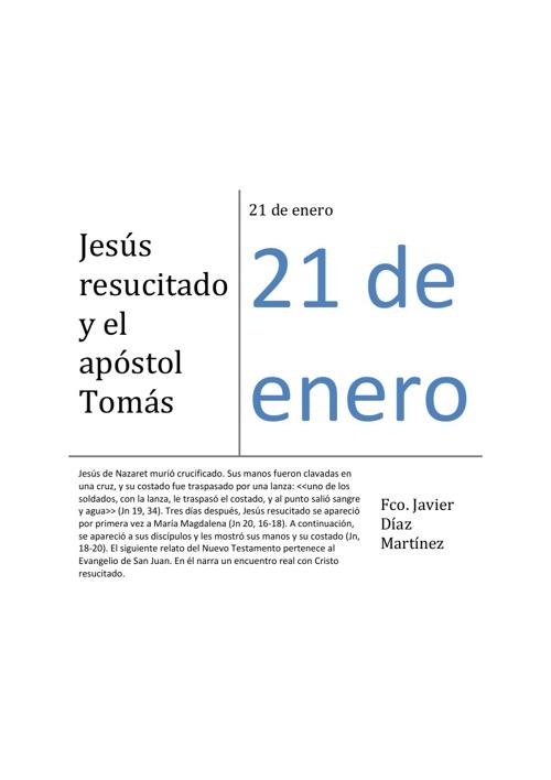 Jesús resucitado y el apóstol Tomás