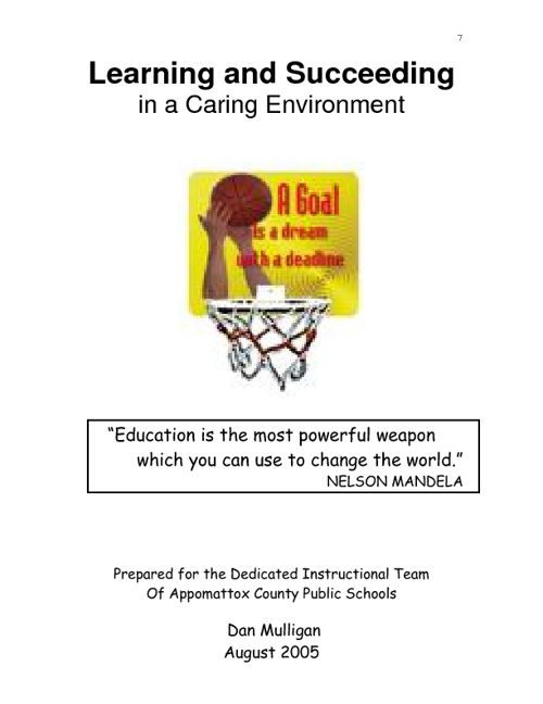 Learning and Succeeding in a Caring Environment