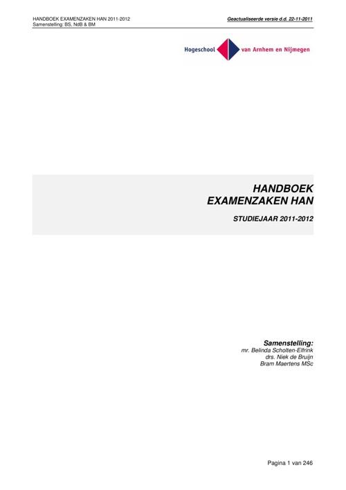 Handboek Niek nov 2011