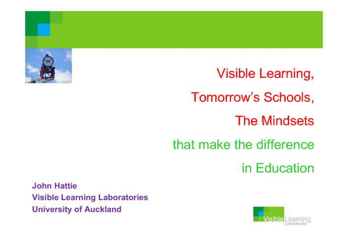 Visible Learning - John Hattie