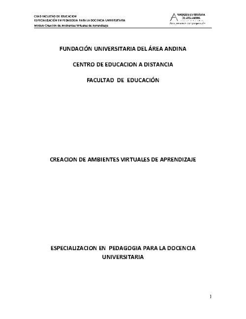 Copy of Creación de Ambientes Virtuales de Aprendizaje