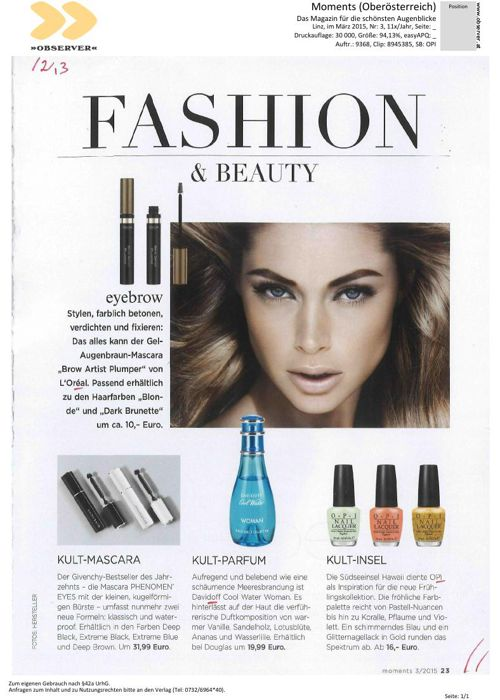 Beauty Solutions PR - OPI 2015