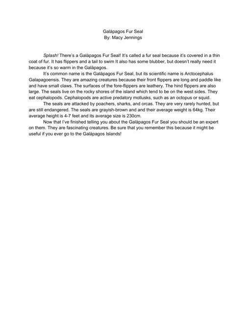 Macy Jennings Galàpagos Islands E-Book