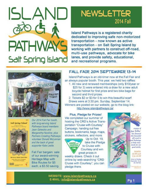 Island Pathways 2014 Fall Newsletter
