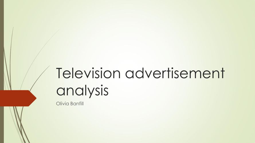 Television advertisement analysis