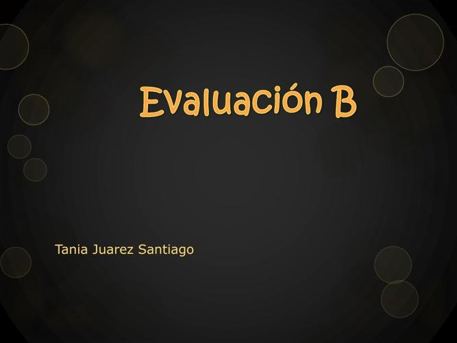 Evaluacíon B