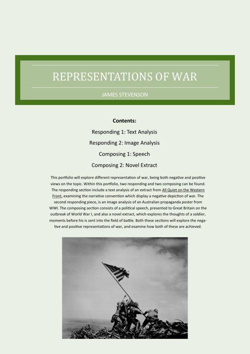 Representations of War