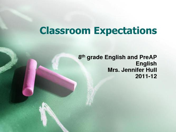 Classroom Expectations Presentations