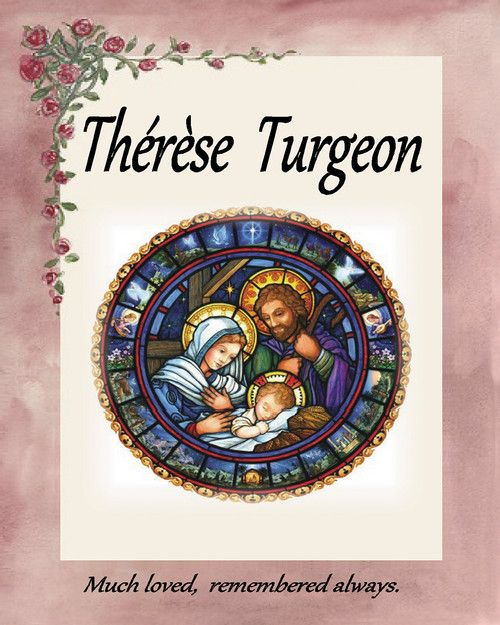 Memorial Card for Therese Turgeon