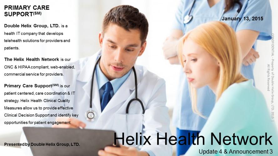 Helix Health Network | Update 4 Announcement 3.0