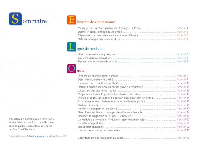 Guide du Manager - Prévenir et gérer les Incivilités