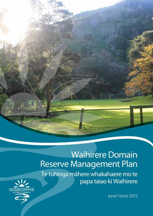 Waihirere Domain Reserve Management Plan