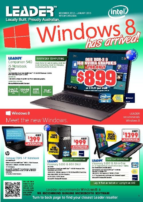 Leader November 2012 - January 2013 Catalogue