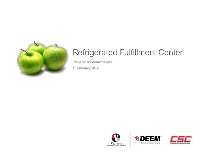 AmazonFresh Refrigerated Fulfillment Center 4.0 - PRINT VERSION