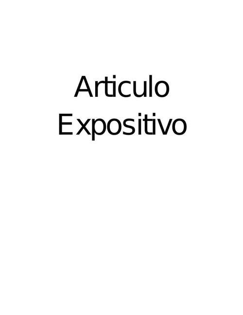 Articulo Expositivo original 1