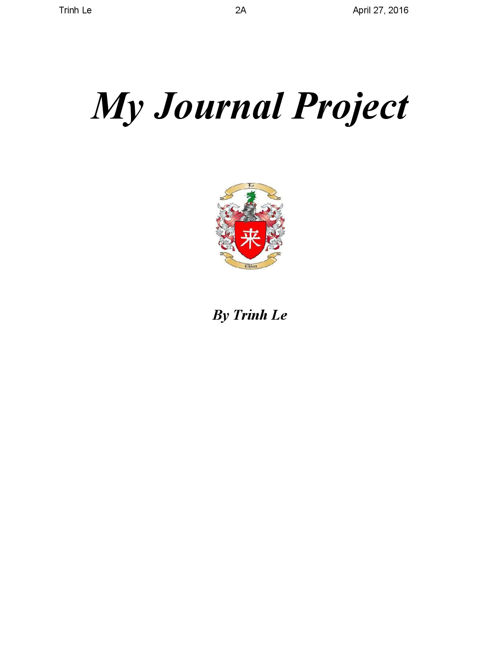 Journal Project