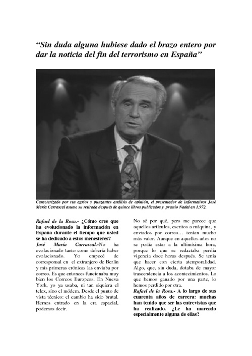 entrevista a Jose Maria Carrascal