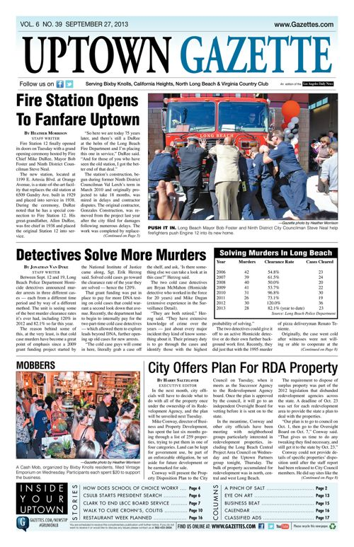 Uptown Gazette  |  September 27, 2013