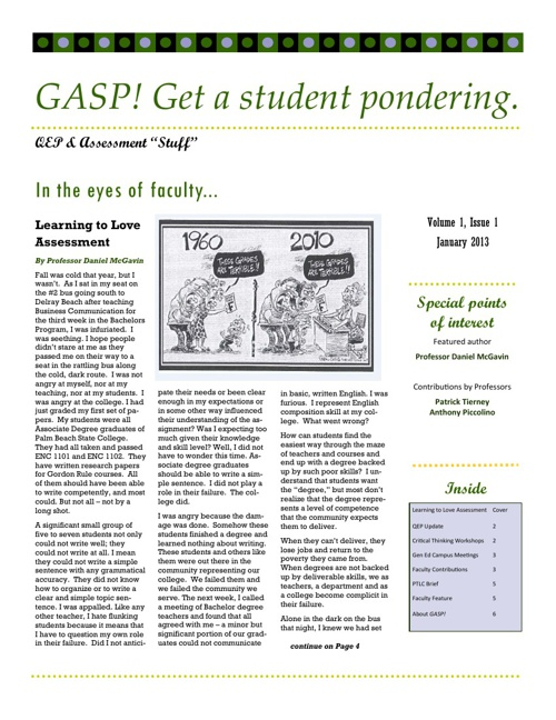GASP! Get a student pondering.