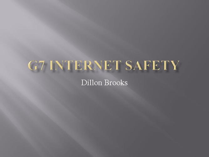 G7 Internet Safety Dillon Brooks