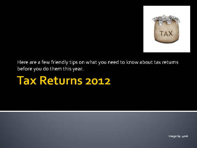 A Guide on Tax Returns UK 2012