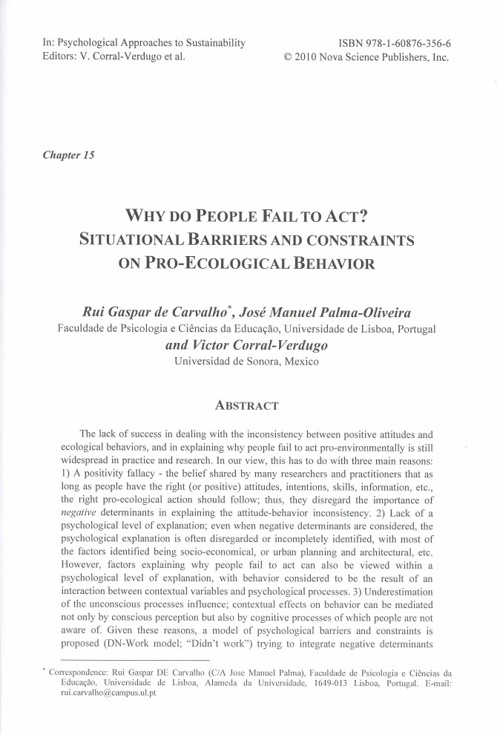 Chapter 15. Why do People Fail to Act? Situational Barriers